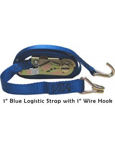 "1"" Logistic Ratchet Straps"