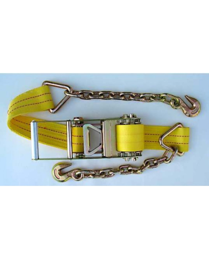 Ratchet Strap with Chain Anchor Hook